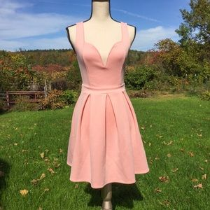 Charlotte Russe Pale Pink Small Heart Dress